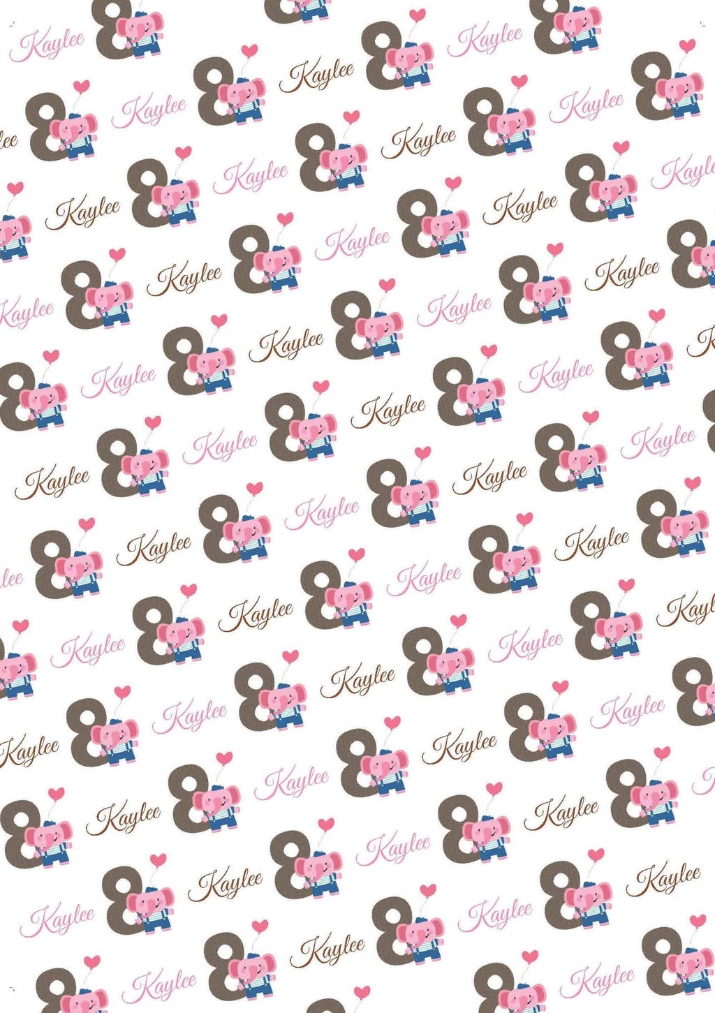 8th Birthday Elephant Personalized Birthday Tissue Paper - Potter's Printing