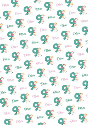9th Birthday Giraffe Personalized Birthday Tissue Paper - Potter's Printing
