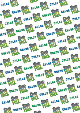 1st Birthday Bear Personalized Birthday Gift Wrap