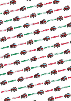 Fire Truck Personalized Tissue Paper - Potter's Printing