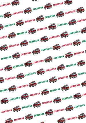 Fire Truck Personalized Gift Wrap - Potter's Printing
