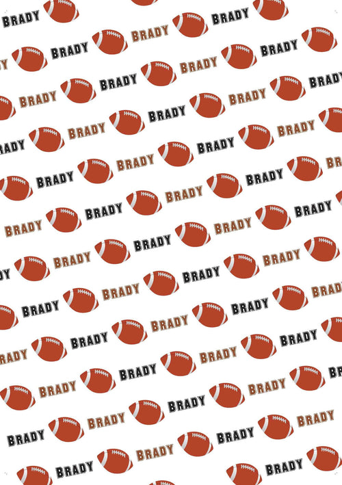 Football Personalized Gift Wrap - Potter's Printing