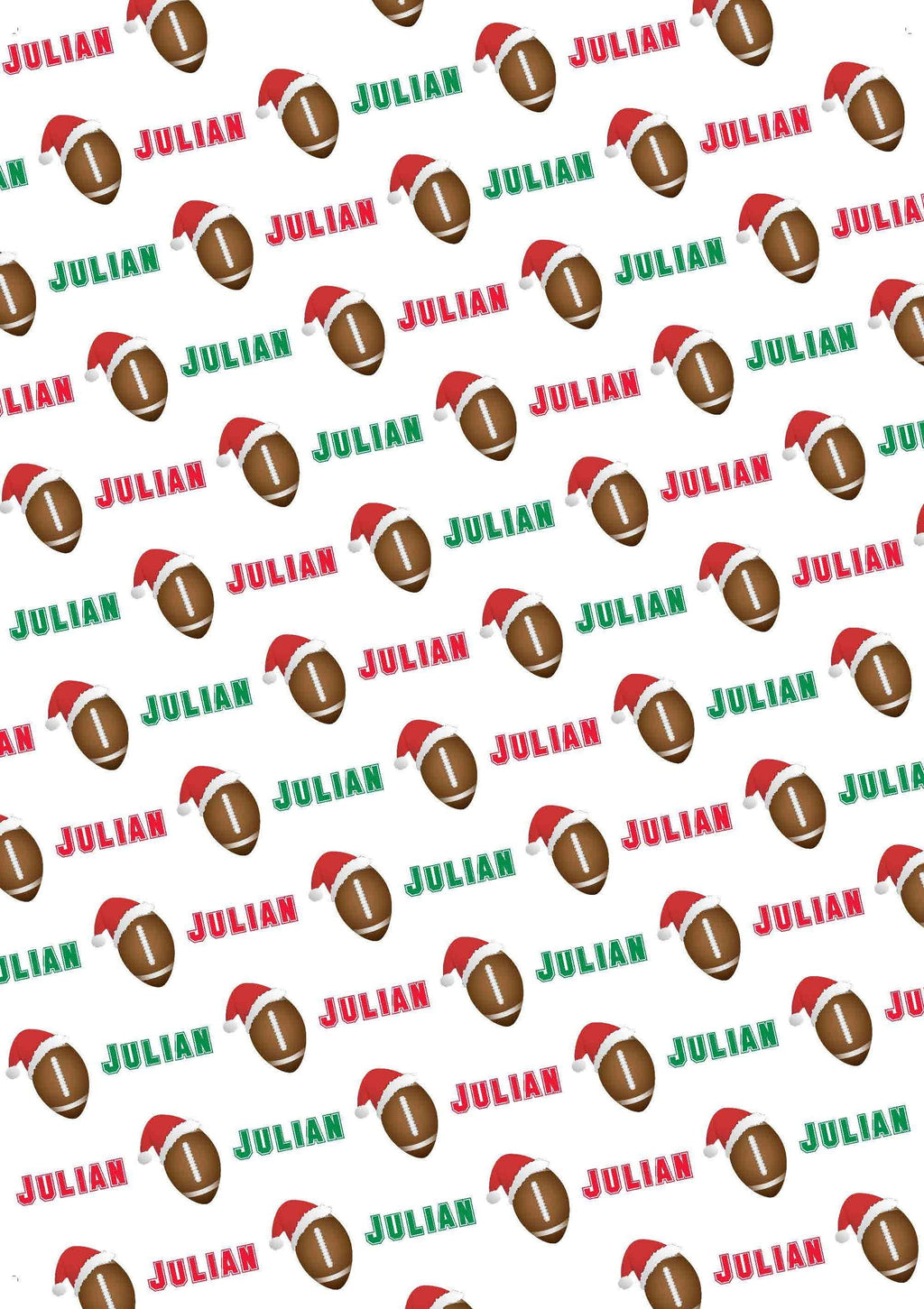 Football Personalized Christmas Gift Wrap - Potter's Printing