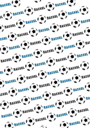 Soccer Personalized Gift Wrap - Potter's Printing
