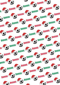 Soccer Personalized Christmas Gift Wrap - Potter's Printing