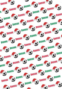 Soccer Personalized Christmas Tissue Paper - Potter's Printing
