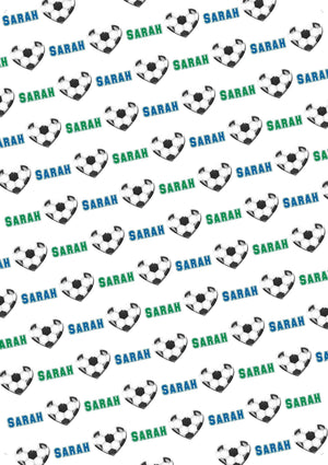 Soccer Personalized Valentine Gift Wrap - Potter's Printing