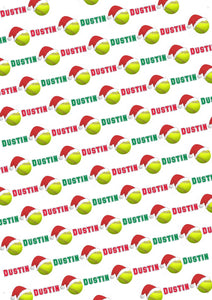 Softball Christmas Personalized Gift Wrap - Potter's Printing