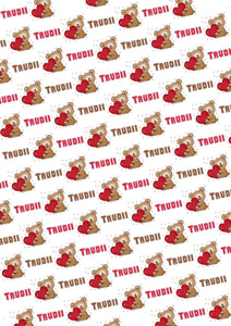 Teddy Bear Personalized Valentine Tissue Paper - Potter's Printing