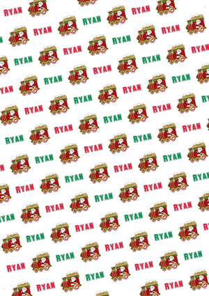 Train Personalized Christmas Gift Wrap - Potter's Printing