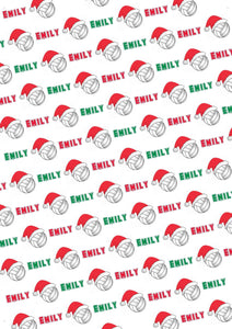 Volleyball Personalized Christmas Gift Wrap - Potter's Printing