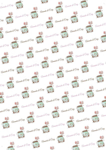 Wedding Car Personalized Tissue Paper - Potter's Printing