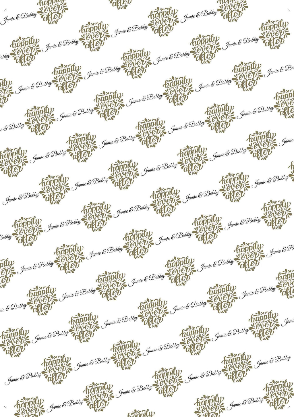 Wedding Happily Ever After Personalized Gift Wrap - Potter's Printing