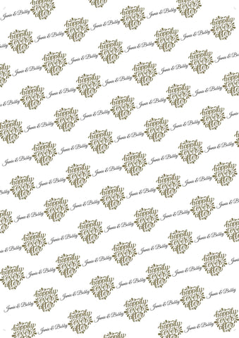 50th Birthday Fabulous Personalized Birthday Gift Wrap