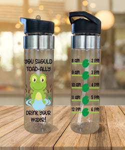 Water Bottle You Should Toad-ally Drink Your Water - Potter's Printing