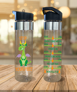 Water Bottle Stop Dragon Your Feet - Potter's Printing