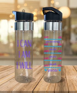 Water Bottle I Can, I Am, I Will - Potter's Printing
