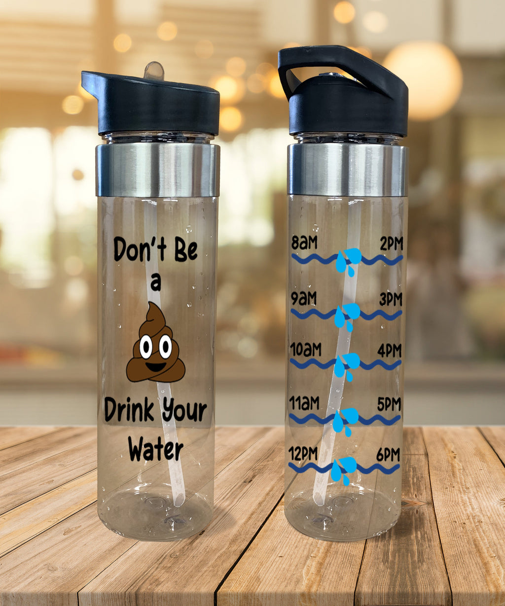 Water Bottle Poop Emoji - Potter's Printing