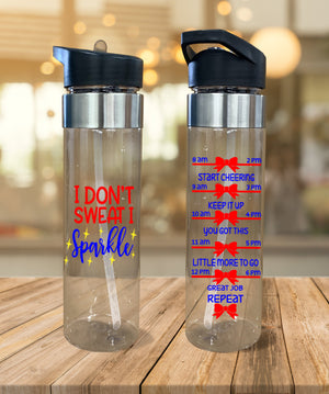 Water Bottle I Don't Sweat I Sparkle - Potter's Printing