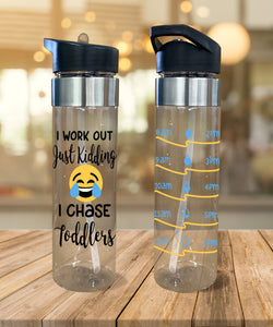 Water Bottle I Chase Toddlers - Potter's Printing
