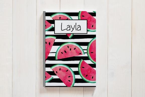 Personalized Watermelon Journal