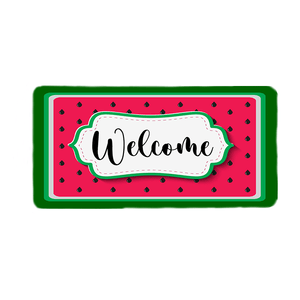 Watermelon Welcome Wreath Sign