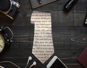 Custom Text Neck Tie - Potter's Printing