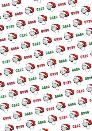 Golf Personalized Christmas Tissue Paper - Potter's Printing