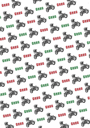 Dirt Bike Personalized Tissue Paper - Potter's Printing