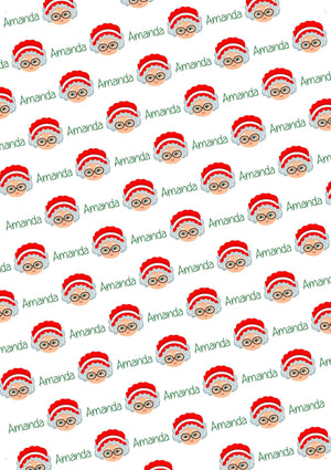 Mrs. Claus Personalized Christmas Gift Wrap - Potter's Printing