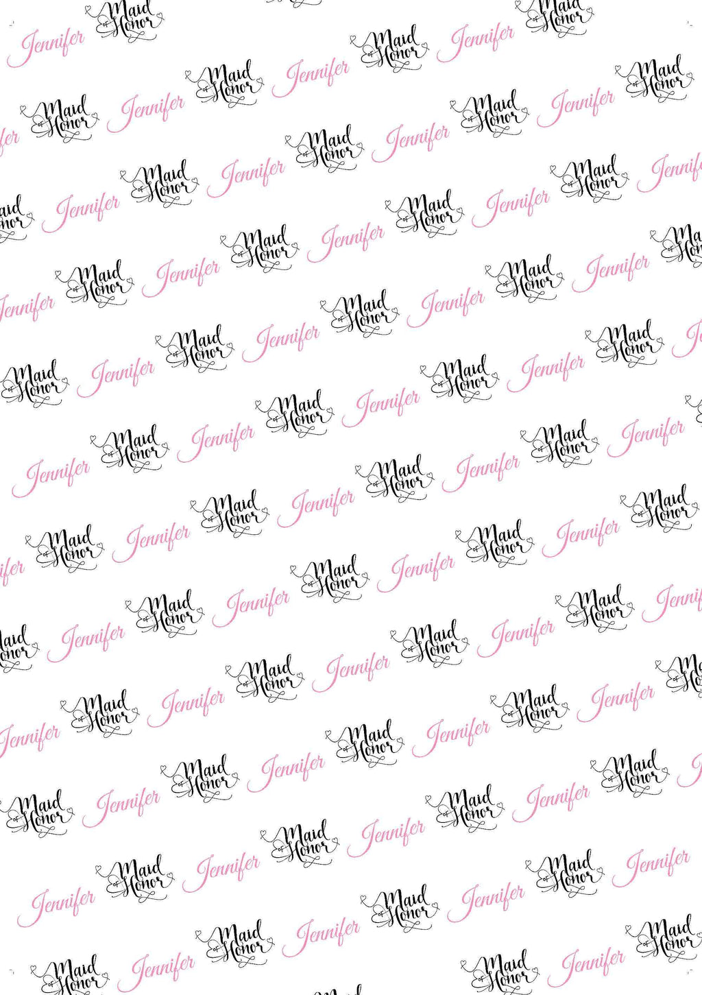 Wedding Maid Of Honor Proposal Personalized Tissue Paper - Potter's Printing