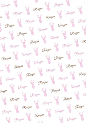 Deer Girl Personalized Tissue Paper - Potter's Printing