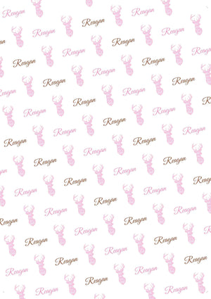 Deer Girl Personalized Gift Wrap - Potter's Printing