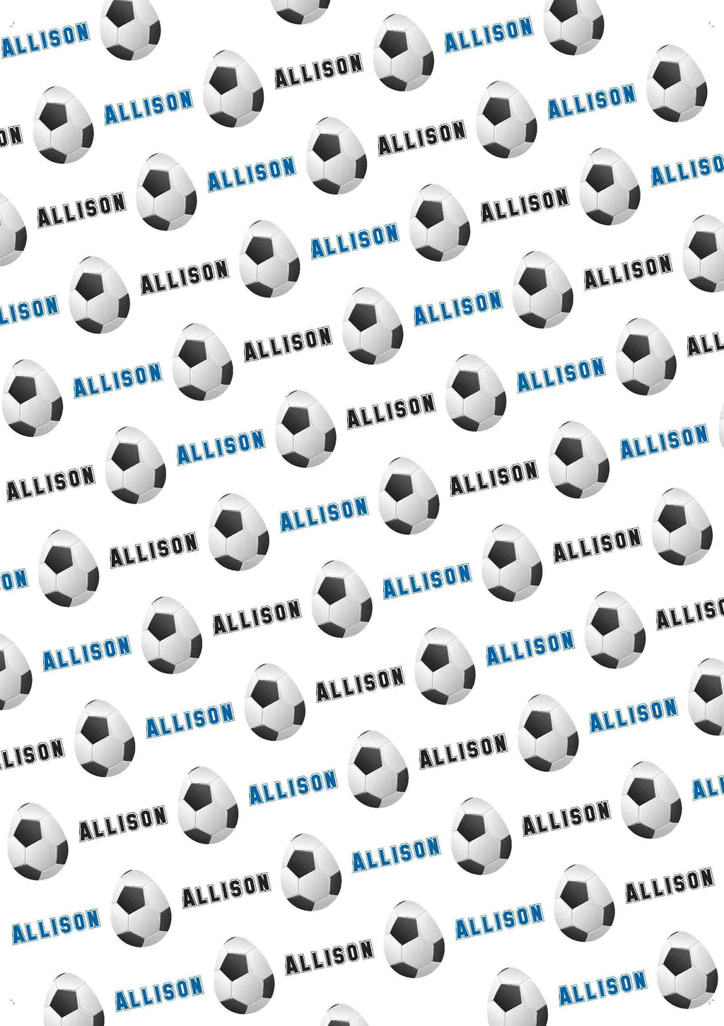 Easter Soccer Personalized Gift Wrap - Potter's Printing