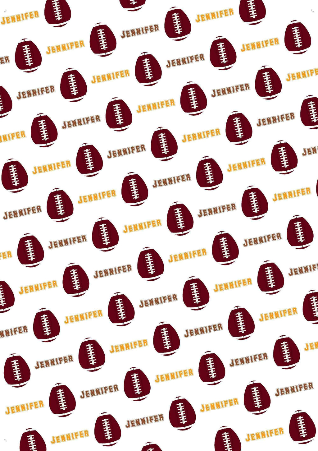 Easter Football Personalized Gift Wrap - Potter's Printing