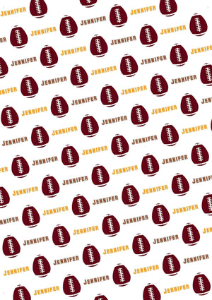 Easter Football Personalized Tissue Paper - Potter's Printing