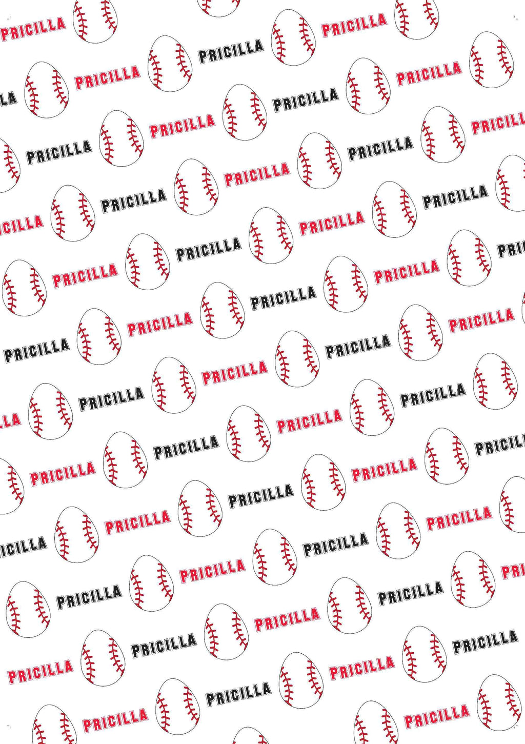 Easter Baseball Personalized Tissue Paper - Potter's Printing