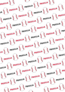 Easter Baseball Personalized Gift Wrap - Potter's Printing