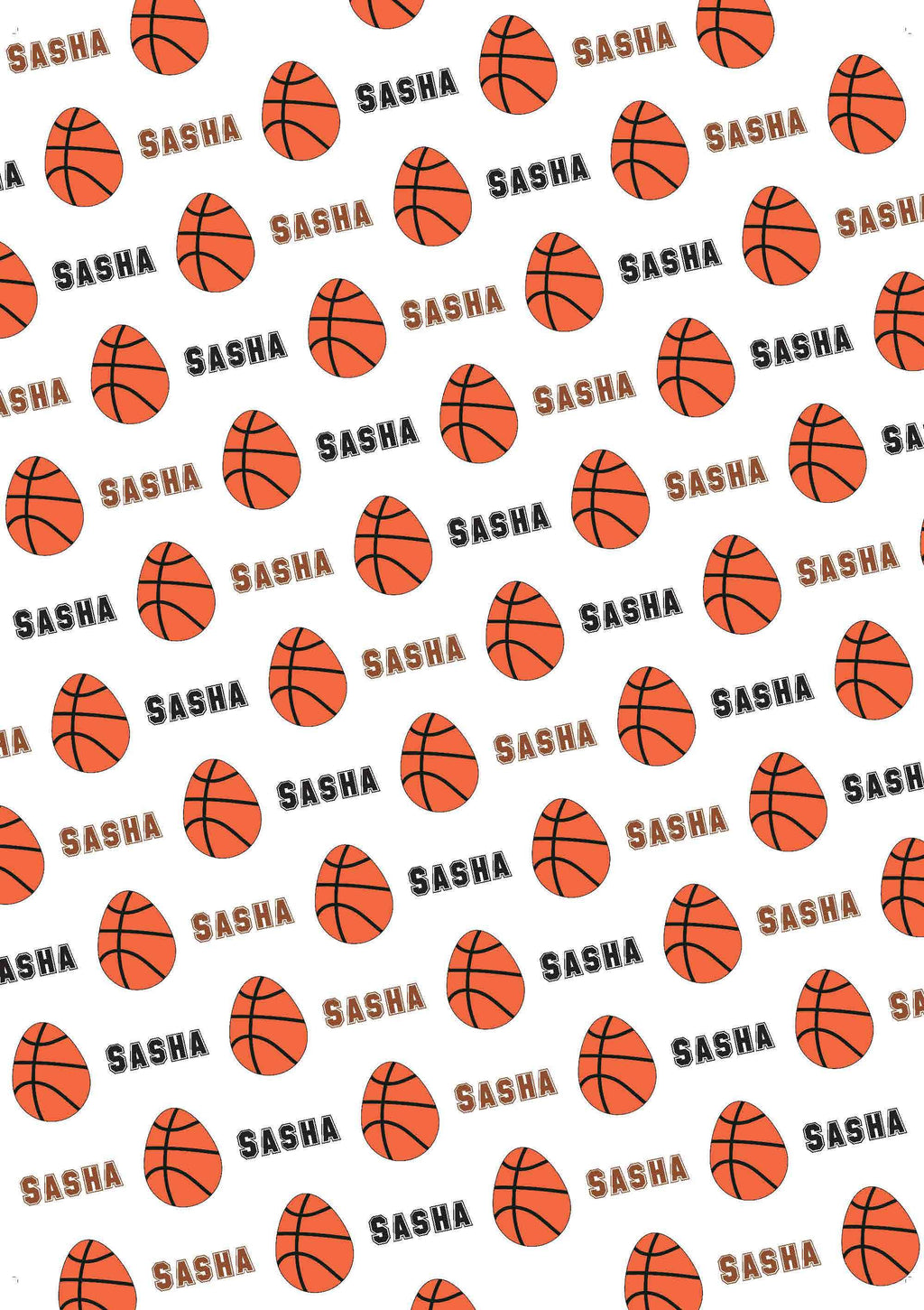 Easter Basketball Personalized Tissue Paper - Potter's Printing