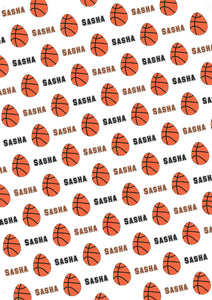 Easter Basketball Personalized Gift Wrap - Potter's Printing