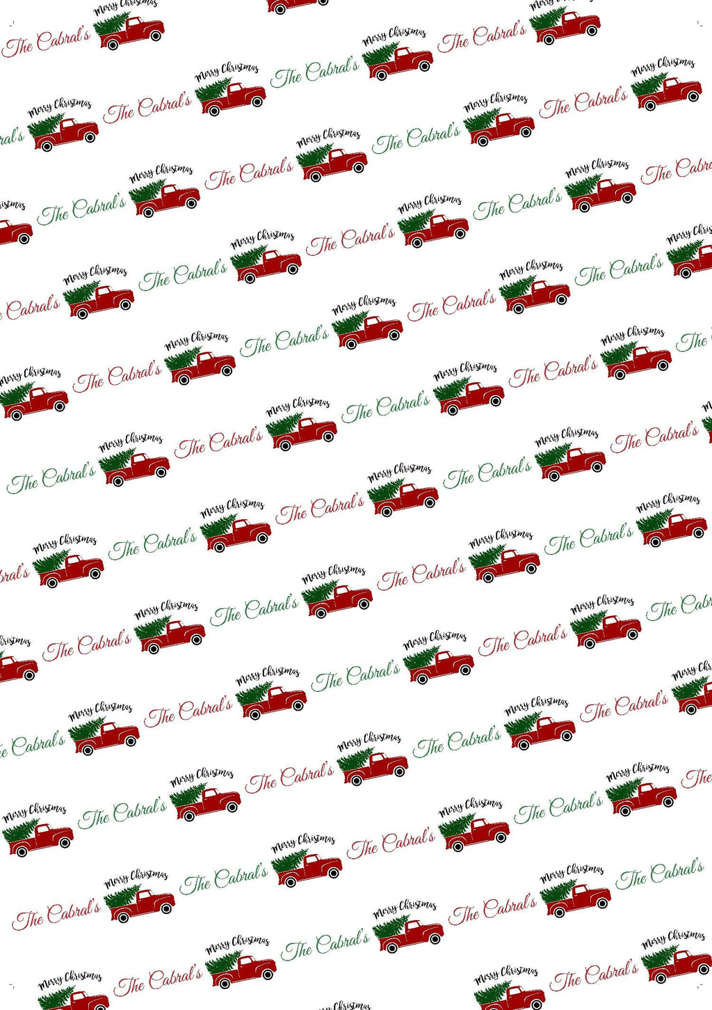 Christmas Truck Personalized Christmas Tissue Paper - Potter's Printing