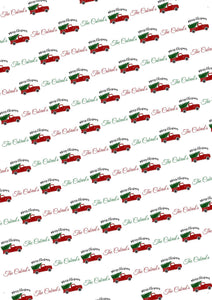 Christmas Truck Personalized Gift Wrap - Potter's Printing
