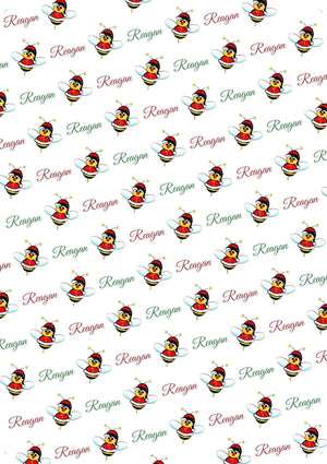 Christmas Bee Personalized Christmas Gift Wrap - Potter's Printing