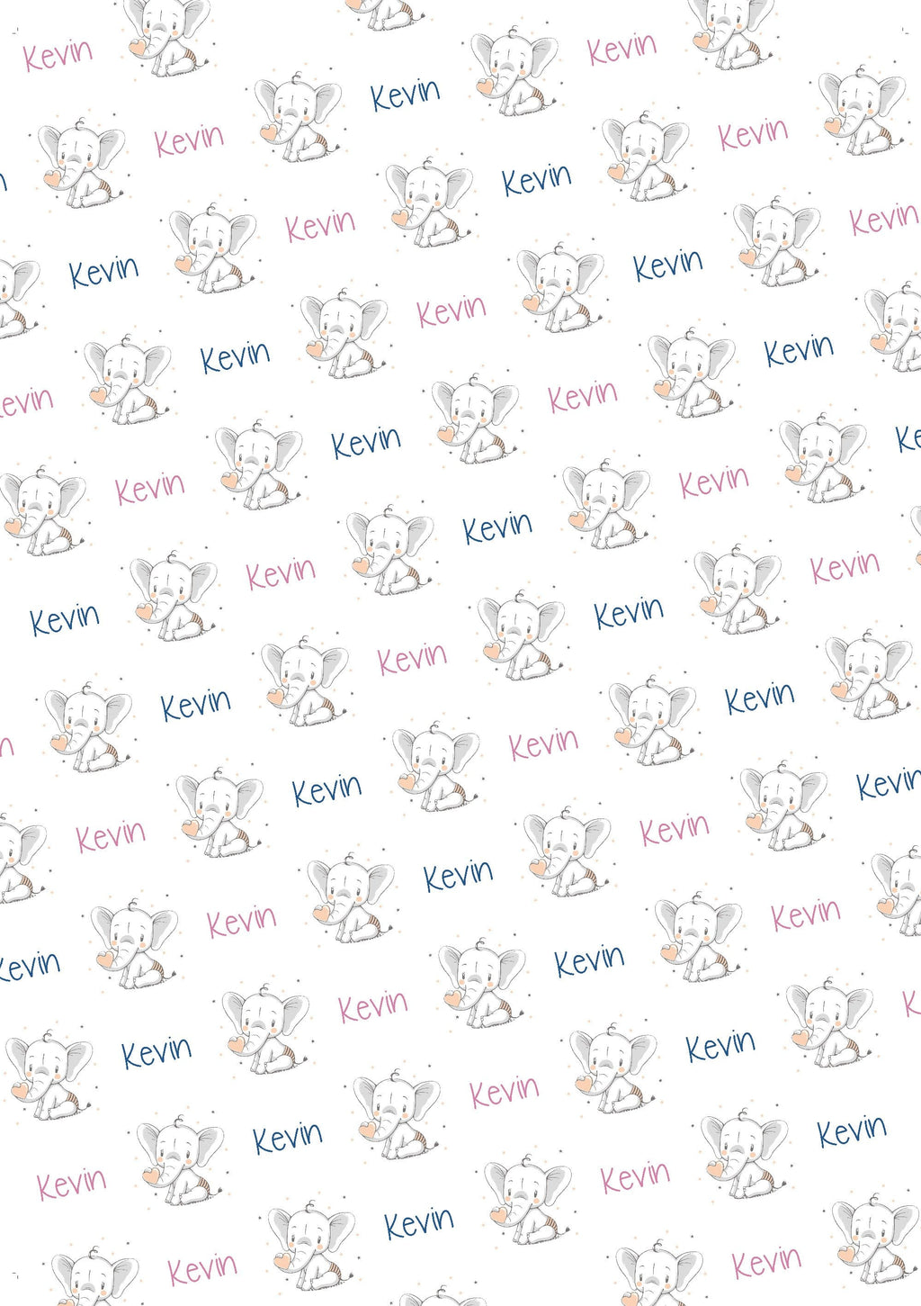 Elephant Personalized Baby Shower Tissue Paper - Potter's Printing
