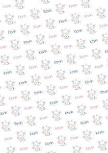 Elephant Personalized Baby Shower Gift Wrap - Potter's Printing