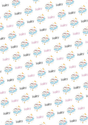 Baby Girl Bear Personalized Baby Shower Tissue Paper - Potter's Printing