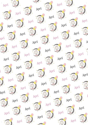 Bunny and Moon Personalized Baby Shower Tissue Paper - Potter's Printing