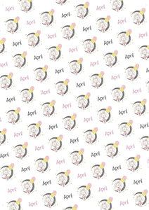 Bunny and Moon Personalized Baby Shower Gift Wrap - Potter's Printing