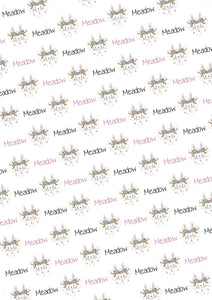 Bunny Personalized Baby Shower Gift Wrap - Potter's Printing