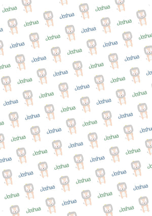 Lion Personalized Baby Shower Tissue Paper - Potter's Printing